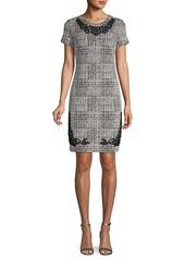 Karl Lagerfeld Lace-Trimmed Mini Dress