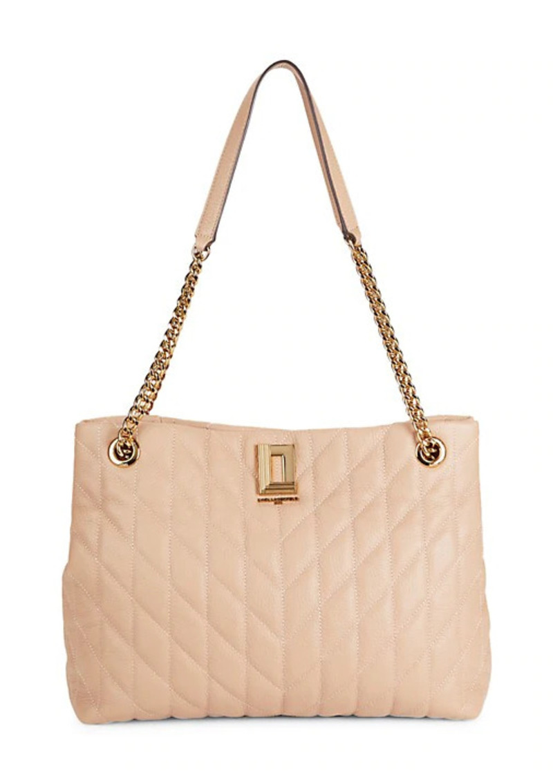 Karl Lagerfeld Lafayette Quilted Leather Tote