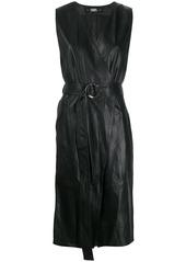 Karl Lagerfeld leather wrap dress