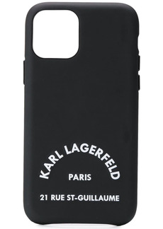 Karl Lagerfeld logo embossed iphone 11 pro phone case
