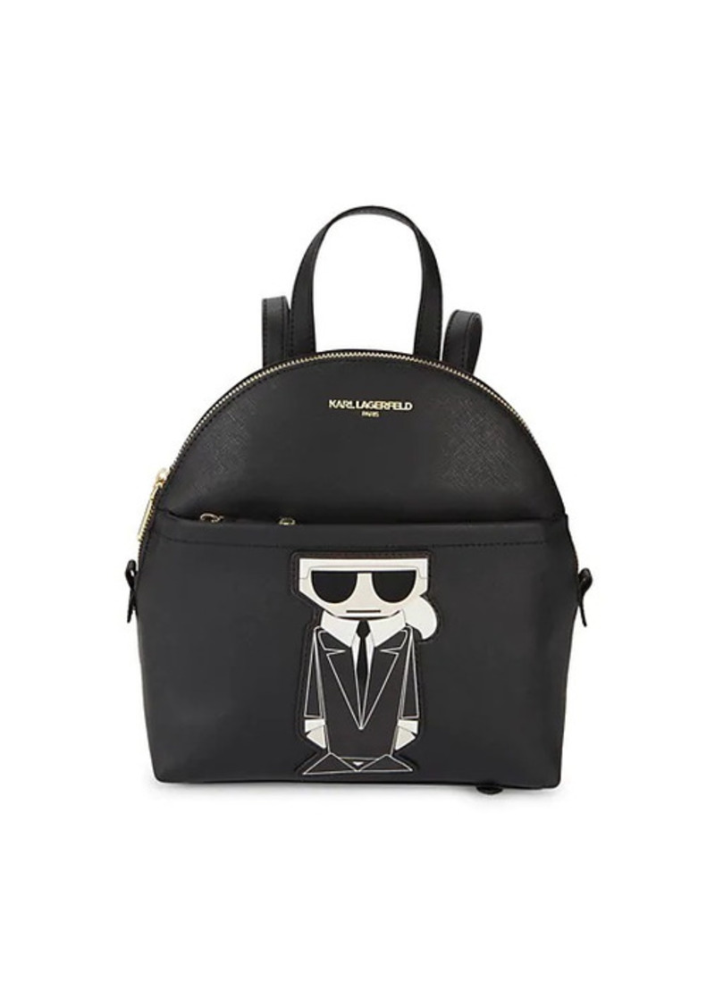 Karl Lagerfeld Maybelle Logo Faux Leather Backpack