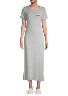 Karl Lagerfeld Logo Maxi T-Shirt Dress