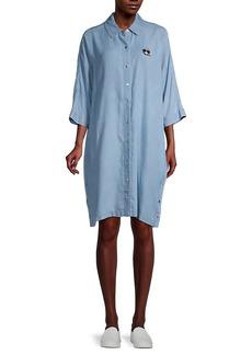 Karl Lagerfeld Logo Oversized Denim Shirtdress