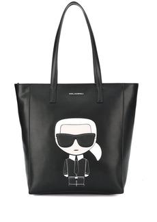 Karl Lagerfeld logo patch shopper tote bag