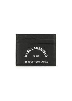 Karl Lagerfeld logo print card holder