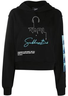 Karl Lagerfeld logo print hoodie