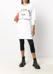 Karl Lagerfeld logo-print sweatshirt dress