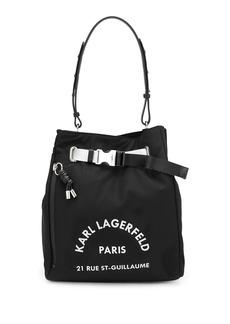 Karl Lagerfeld logo print tote