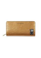 Karl Lagerfeld Logo PVC Zip-Around Wallet