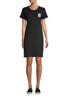 Karl Lagerfeld Logo Side-Tape T-Shirt Dress