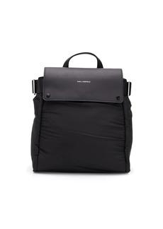 Karl Lagerfeld logo stamp foldover backpack