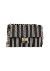 Karl Lagerfeld Large Agyness Striped Shoulder Bag