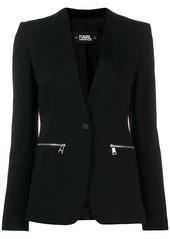 Karl Lagerfeld logo tape blazera