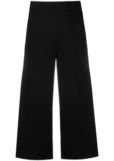 Karl Lagerfeld logo tape cropped trousers