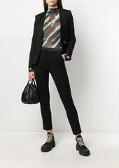 Karl Lagerfeld logo tape Punto blazer