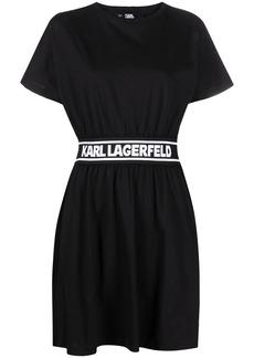 Karl Lagerfeld logo tape shirt dress