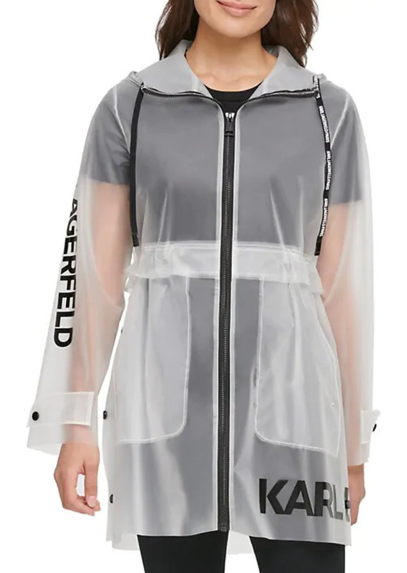Karl Lagerfeld Logo Translucent Raincoat