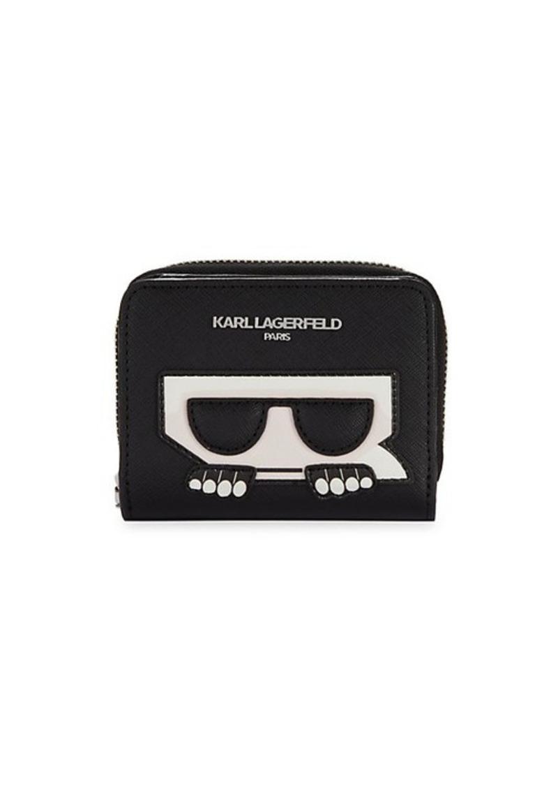 Karl Lagerfeld Logo Zip-Around Wallet