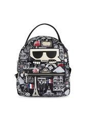 Karl Lagerfeld Logo Zip Backpack