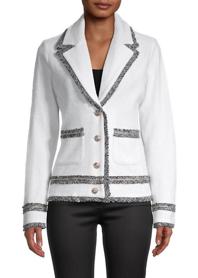 Karl Lagerfeld Long-Sleeve Wool-Blend Jacket