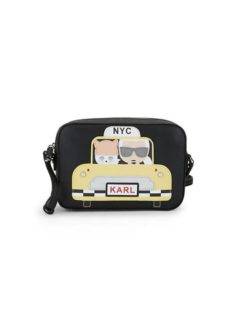 Karl Lagerfeld Maybelle Taxi Leather Crossbody Bag