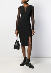 Karl Lagerfeld mesh-panel fitted dress