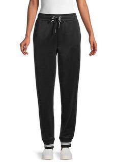 Karl Lagerfeld Metallic-Striped Jogging Pants