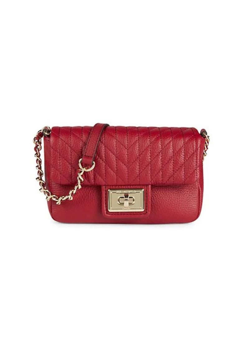 Karl Lagerfeld Mini Agyness Leather Crossbody Bag