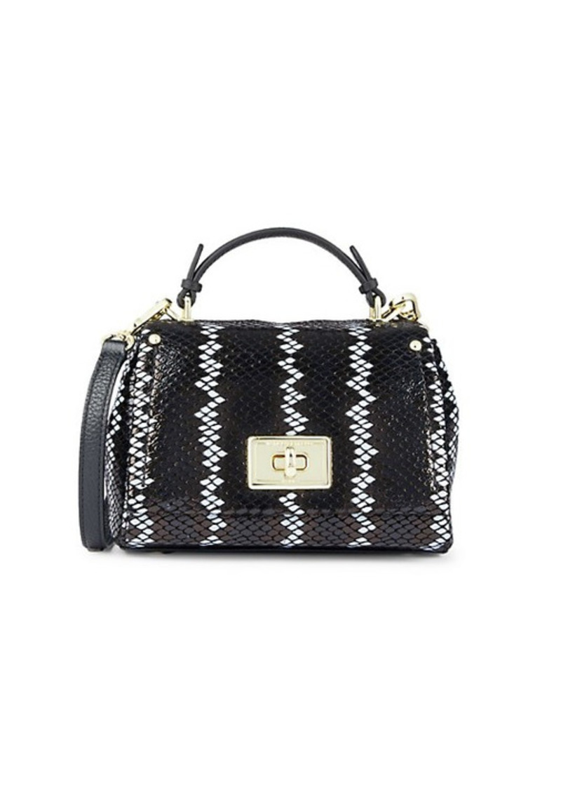 Karl Lagerfeld Mini Lucien Leather Crossbody Bag