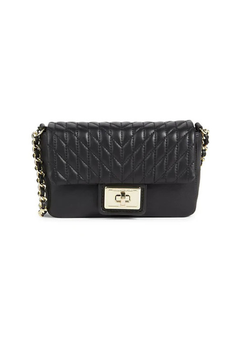 Karl Lagerfeld Mini Agyness Quilted Leather Crossbody Bag