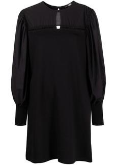Karl Lagerfeld mixed fabric shift dress