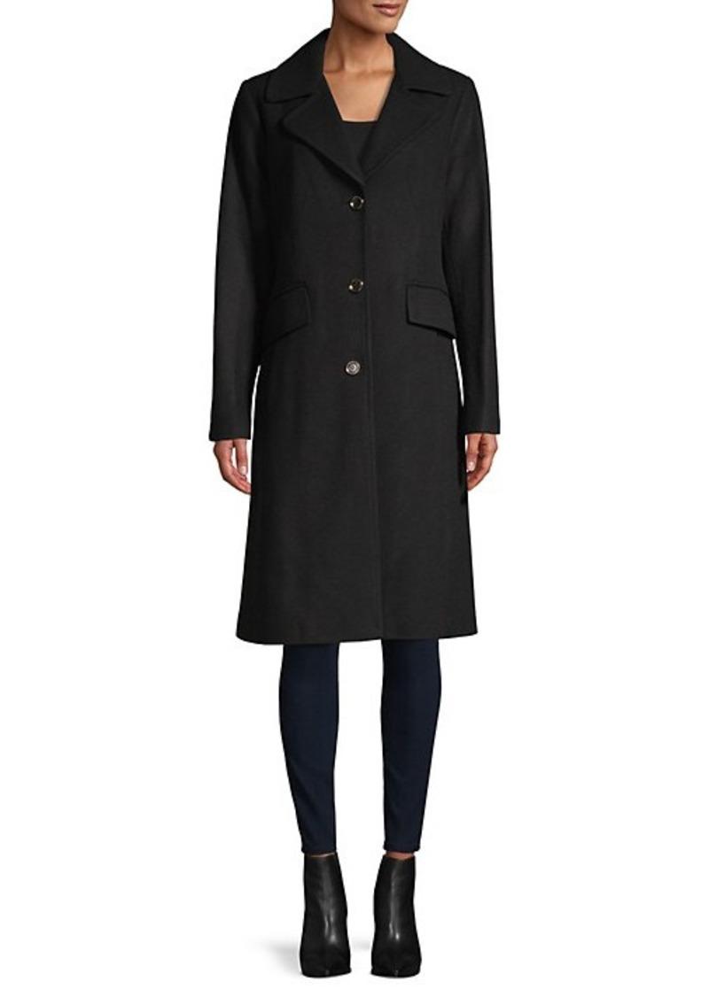Karl Lagerfeld Notch Lapel Coat