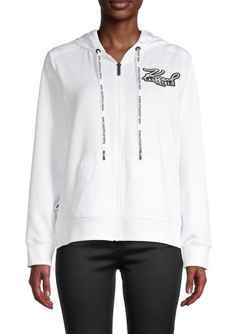 Karl Lagerfeld Nylon-Hood Full-Zip Jacket