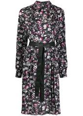 Karl Lagerfeld orchid print dress