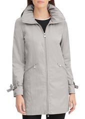 Karl Lagerfeld Packable A-Line Rain Jacket