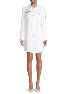 Karl Lagerfeld Patch Embroidery Shirtdress