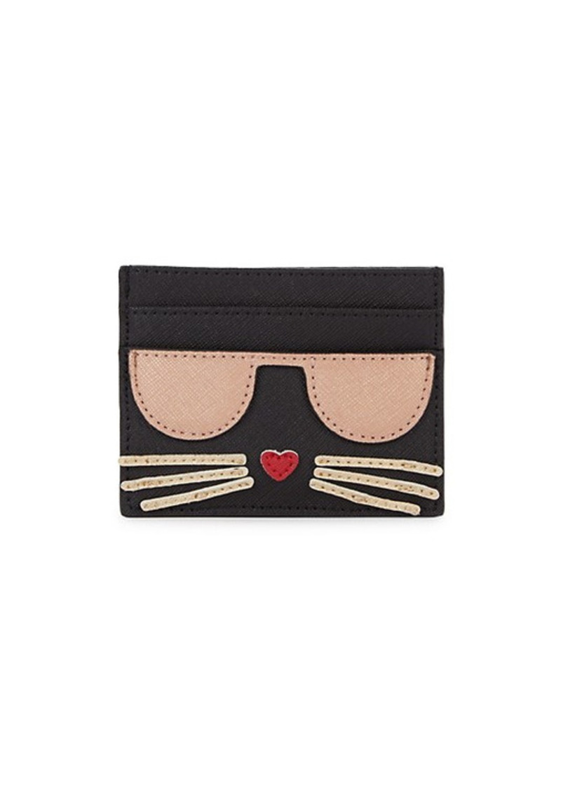 Karl Lagerfeld Patch Graphic Card Holder