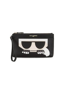 Karl Lagerfeld Patch Graphic Wristlet