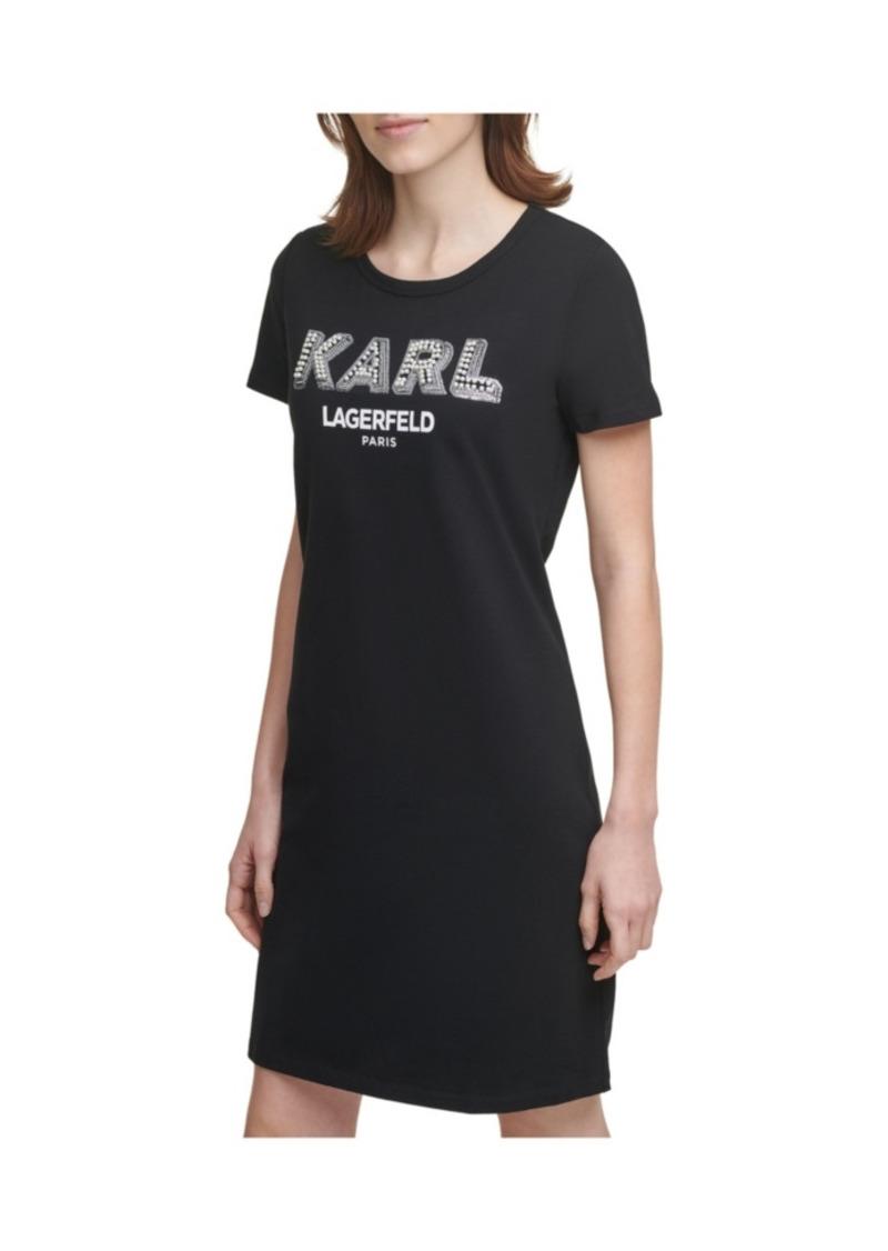 Karl Lagerfeld Paris Pearl Logo T-Shirt Dress