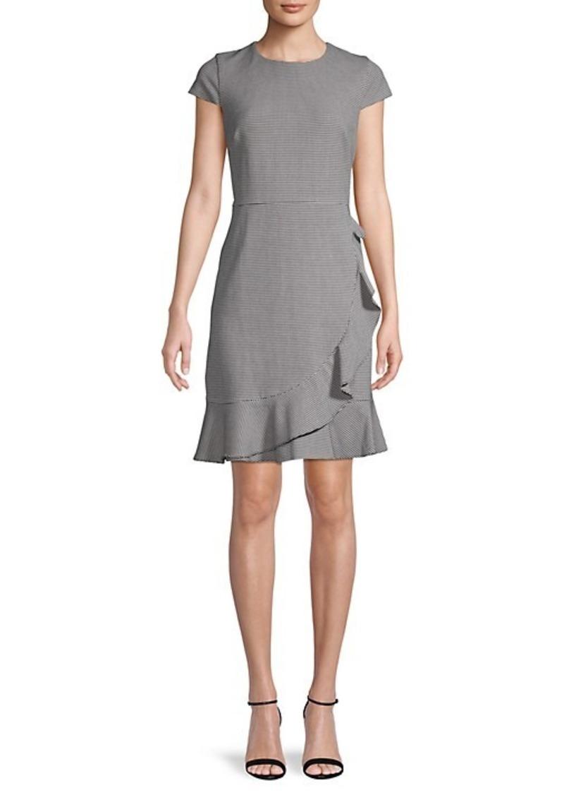 Karl Lagerfeld Pincheck Mini Dress