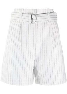 Karl Lagerfeld pinstripe-print belted shorts