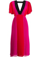 Karl Lagerfeld pleated colour-block dress