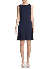 Karl Lagerfeld Pleated Crepe Dress