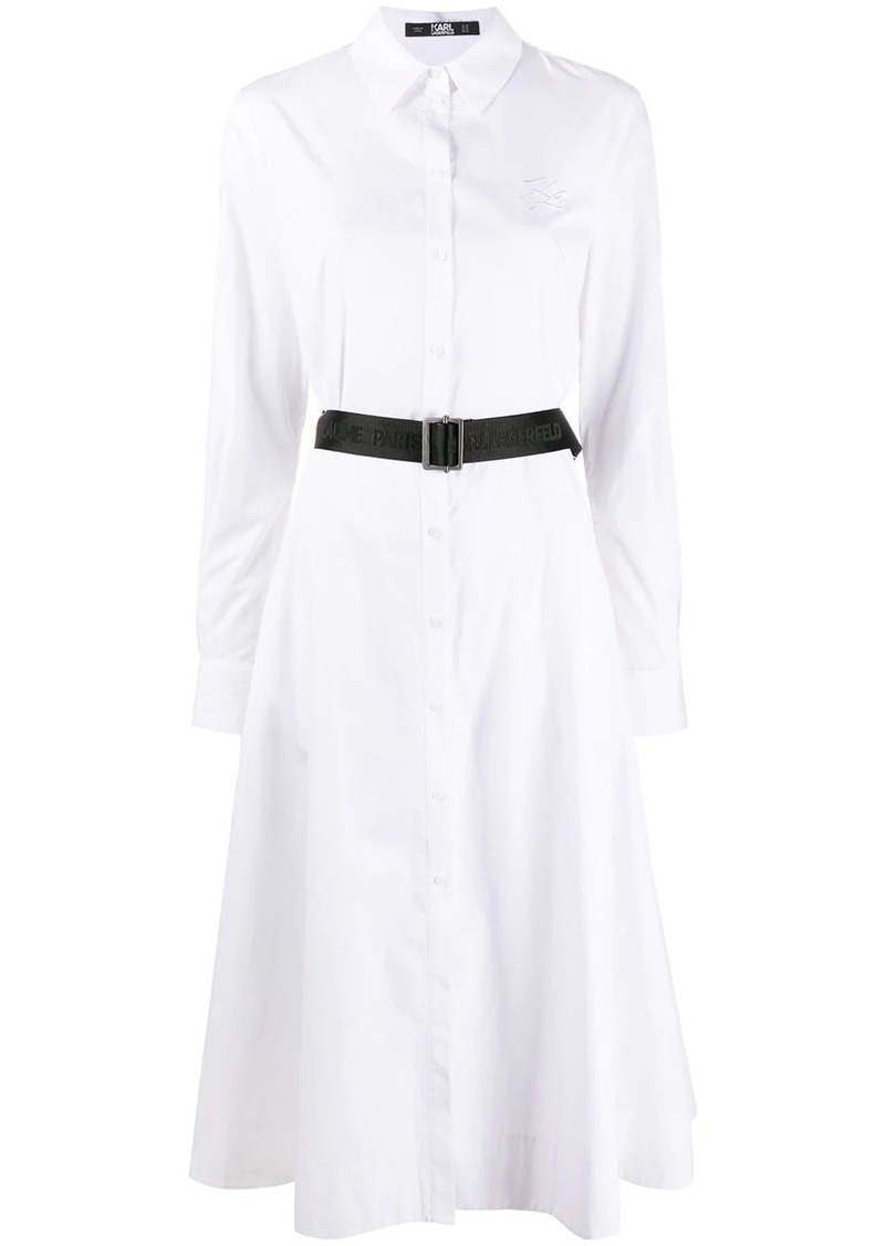 Karl Lagerfeld poplin A-line shirt dress