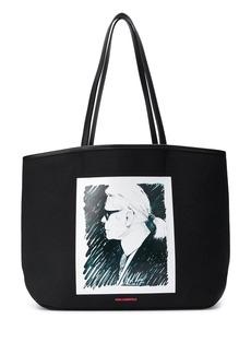Karl Lagerfeld profile print Karl tote bag