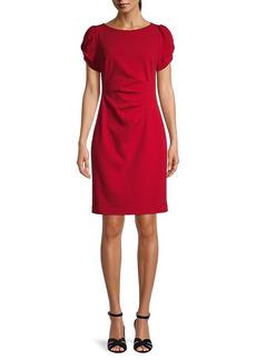 Karl Lagerfeld Puff-Sleeve Sheath Dress
