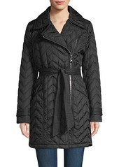 Karl Lagerfeld Quilted Chevron Jacket