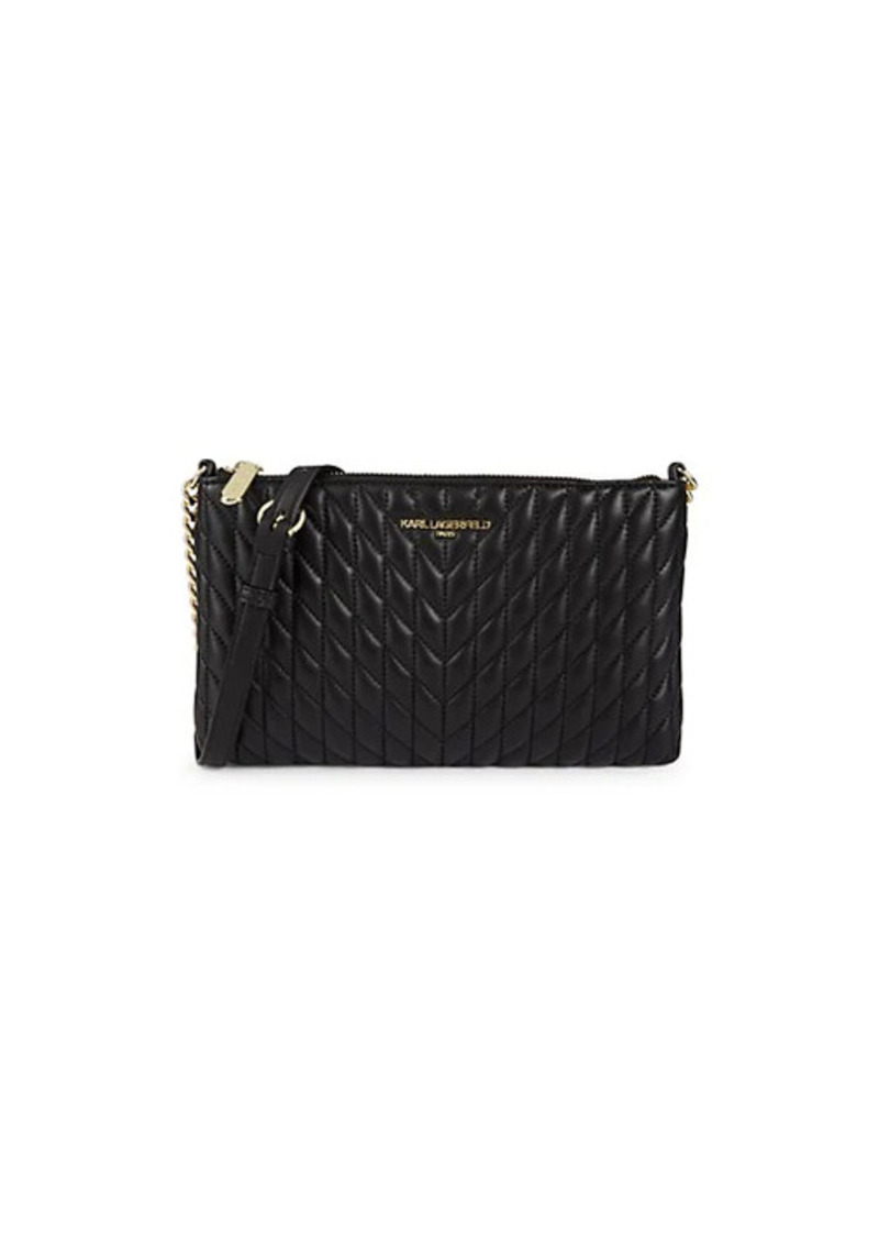 Karl Lagerfeld Quilted Leather Crossbody Bag