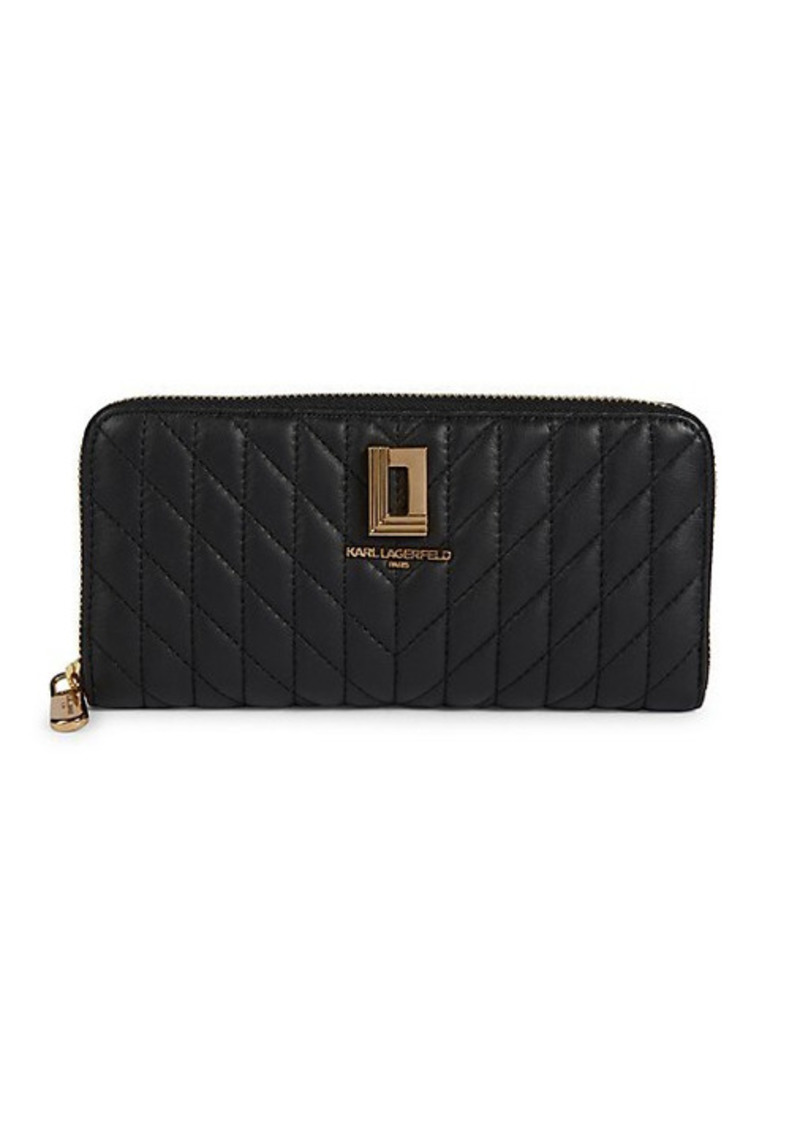 Karl Lagerfeld Quilted Leather Wallet