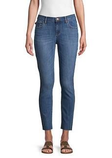 Karl Lagerfeld Released Side Stripe Cropped Jeans